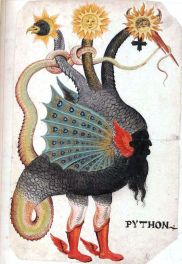 Python Mercurius as three-headed dragon German circa 1600