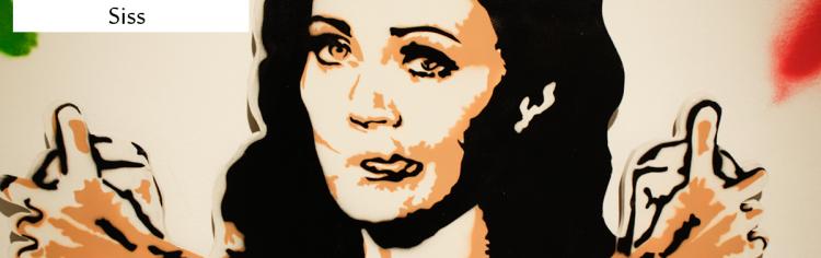 Simone Siss se diz iniciante na arte do stencil, todavia fica claro que andou praticando muito da experiência sensorial e prática do existir e fazer arte.