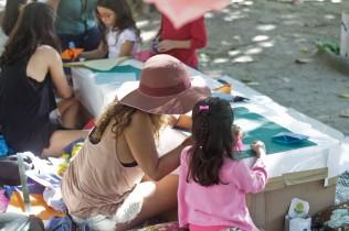 A criação e convivência entre gerações marcou o sábado no Passeio.
